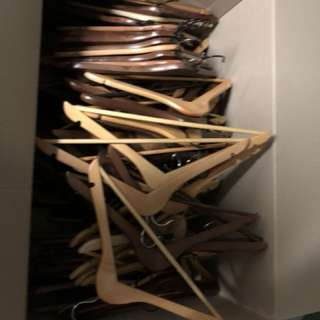 Wooden hangers bulk lot 104