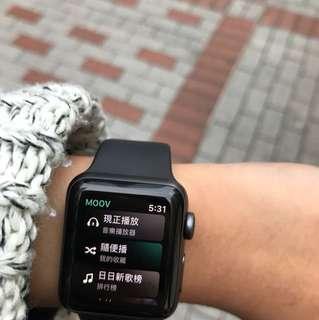 apple watch series 3 黑色 接近全新 38mm