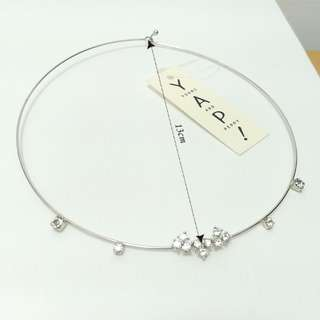 【專櫃品牌】全新YAP水鑽項鍊-白