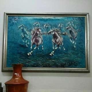 油画 長103cm 高72 cm