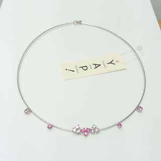 【專櫃品牌】全新YAP水鑽項鍊-粉紅