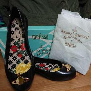 Vivienne Westwood 黑色膠鞋 防水鞋 香香鞋 全新正品 eu38/us7/24cm(另有紅色eu38 / 黑色eu41)
