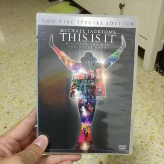 Michael jackson this is it special 2 disc DVD
