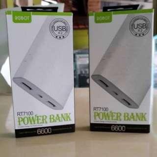 Power Bank Robot RT7100 6600MAH