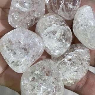 Fire and Ice Quartz Tumbled stone