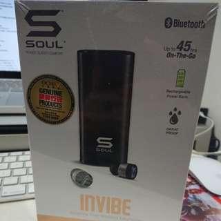 全新 Soul InVibe 防水藍牙耳機(黑)