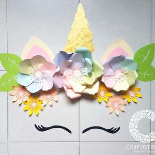 UNICORN PAPER FLOWERS