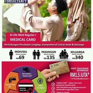 Medical Card Unlimited Lifetime Cover by AIA
