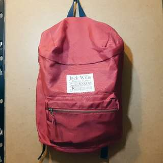 SALE JACK WILLS Ashdown backpack red
