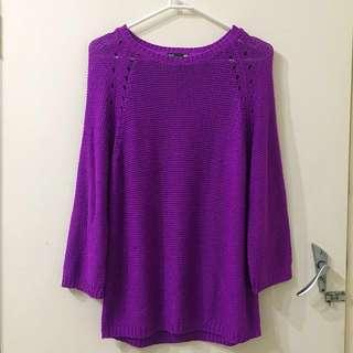 H&M Basic Purple Knit Sweater Jumper