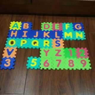 ABC 123 Puzzle Mat