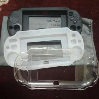 PS Vita Silicon and Clear Hard Plastic Cover