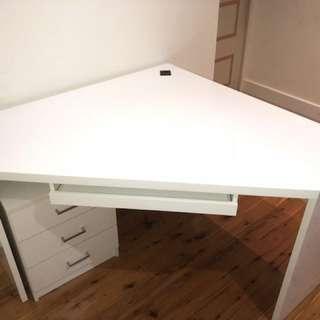 White polyurethane desk