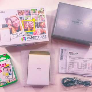 Fujifilm instax pocket printer with 10 sheets of film