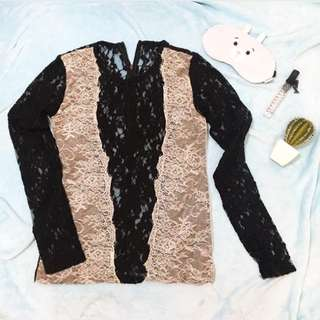 Elegant Black and White long sleeves