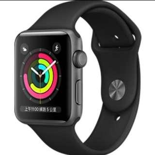 徵收 Apple watch series 3 38mm 黑色 粉紅色 全新