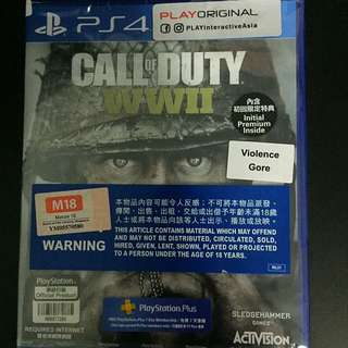 PS4 Call Of Duty WWll Standard Edition (Brand New)