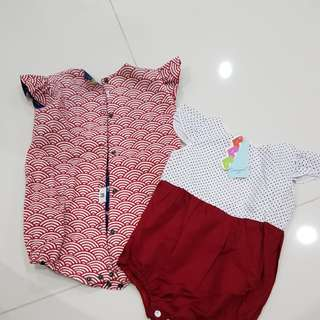 2pcs Baby Girl Romper