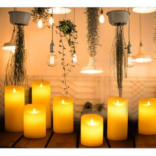 """ROMANTIC """"REAL"""" CANDLES - Looks like real candles with flickering light with light candle scent."""
