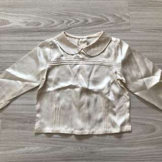 Brand new without tag satin Janie and jack top size 3t