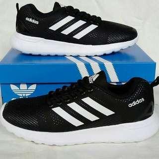 Adidas cloudfoam black white