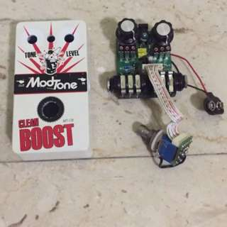 For Parts: Modtone Clean Boost Distortion Overdrive Preamp Electric Guitar Effect Pedal Spoilt Not Working
