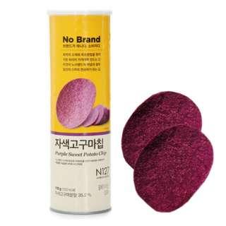 🚚 NO Brand 紫心紅番薯洋芋片 紫洋芋片 110g/罐