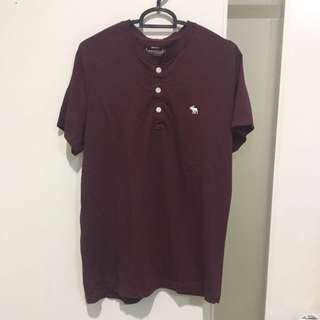 Abercrombie maroon button shirt