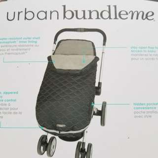 BNIB JJ Cole Urban Bundleme for baby or toddler. Bunting bag for stroller or car seat. Retails for $89. NEW. Never used. Original packaging. Regiftable. Pickup beaches or yorkville. Message with preferred time and location.