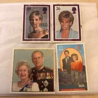 英國皇室成員郵票