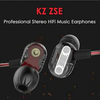 [Free kz storage box] Dual dynamic drivers kz ZSE iem!