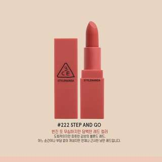 3CE Mood Recipe Matte Lipstick STEP AND GO