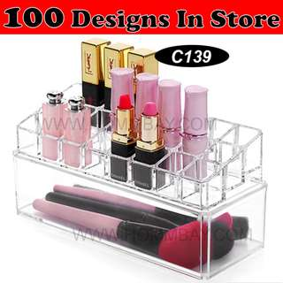 Clear Acrylic Transparent Make Up Makeup Cosmetic Jewellery Jewelry Organiser Organizer Drawer Storage Box Holder (C139)