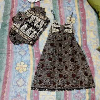Dress Batik with Outer