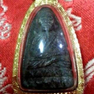 Lp Thuad. Wat Chianghai year 2524 encase in Thai Gold.