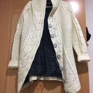 🚚 長版內加絨針織外套