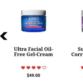 kiels oil free gel cream