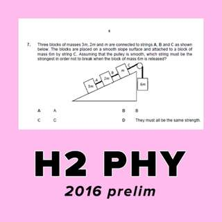 H2 PHYSICS 2016 PRELIM PAPERS