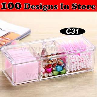 Clear Acrylic Transparent Make Up Makeup Cosmetic Jewellery Jewelry Organiser Organizer Drawer Storage Box Holder (C31)