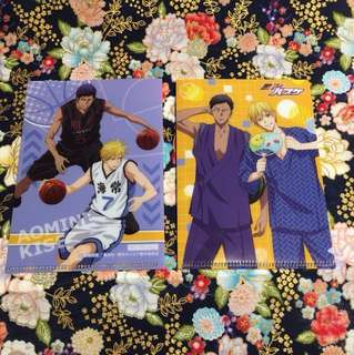 [Ryota Kise and Daiki Aomine] 2 Mini Pocket Sized Clear Files (from Kuroko no Basuke)