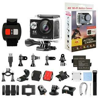Action Camera WIFI 4K Ultra Hd Waterproof With Remote
