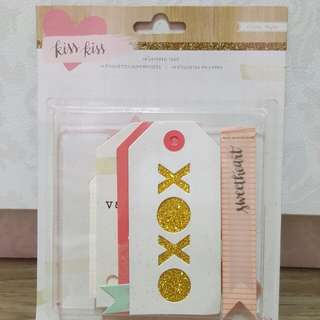 Crate Paper 'Kiss Kiss' Layered Tags