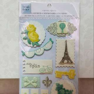 Heidi Grace Layered Chipboard Stickers