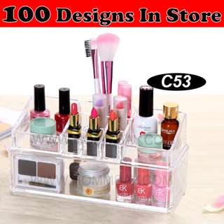 Clear Acrylic Transparent Make Up Makeup Cosmetic Jewellery Jewelry Organiser Organizer Drawer Storage Box Holder (C53)