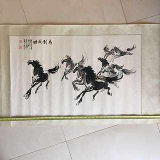 Chinese Painting. Victory Horses