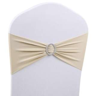 Stretchable chair sash -champagne colour