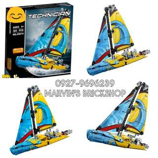 For Sale Latest TECHNIC Racing Yatch Buiding Blocks Toy