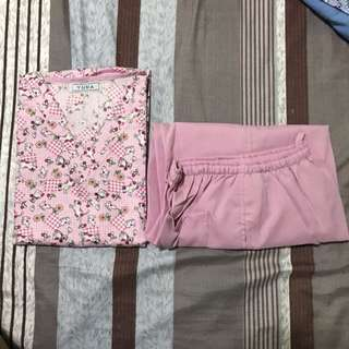 Pink Dog Design Scrub Suit