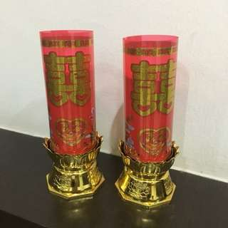 Chinese Wedding Battery Candle