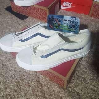 🚚 Vans 板鞋 白配藍❤️